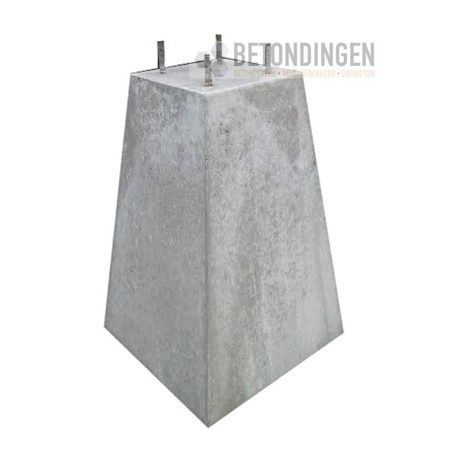 Betonpoer 18x18 en 45 cm hoog grijs M10