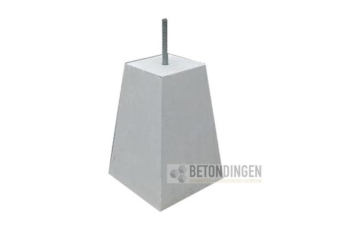 Prefab Betonpoer grijs 18x18x45 cm M16