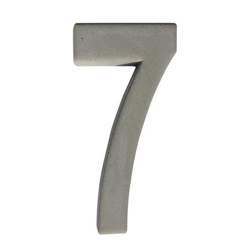 Betonnen huisnummer 7 GROOT