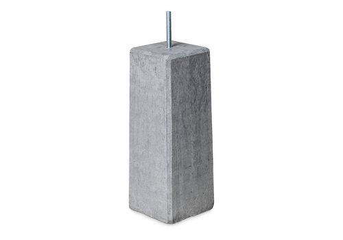Prefab Betonpoer antraciet 22,5x22,5x50 cm M16