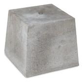 Betonpoer 30x30 en 30 cm hoog grijs M16