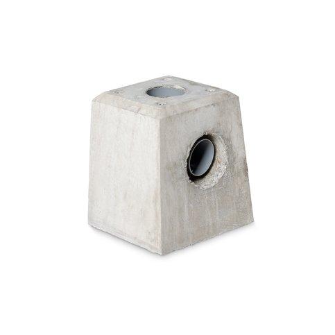 Betonpoer 21x21 en 28 cm hoog grijs met HWA