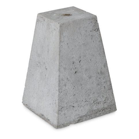 Betonpoer 15x15 en 35 cm hoog grijs M16 ingraafmodel