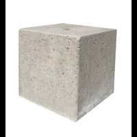 Prefab Betonpoer 30x30x30 cm met gat 4 cm
