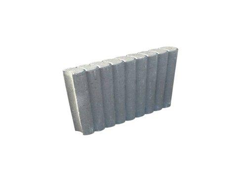 Palissadebanden grijs Ø 8x25x50 cm