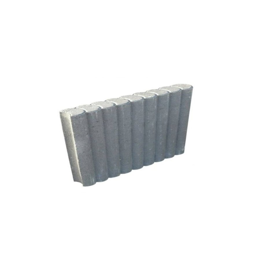 Rondobanden grijs Ø 8x25x50 cm