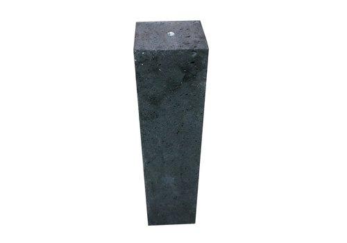Prefab Betonpoer antraciet 12x12x66 cm M16