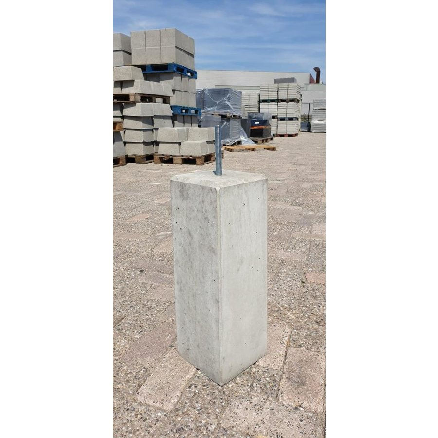 Prefab Betonpoer grijs 17x17x50 cm
