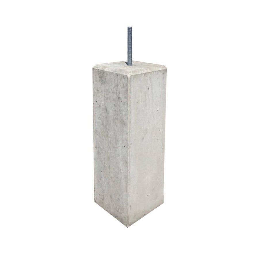 Betonpoer 17x17 en 50 cm hoog grijs M16