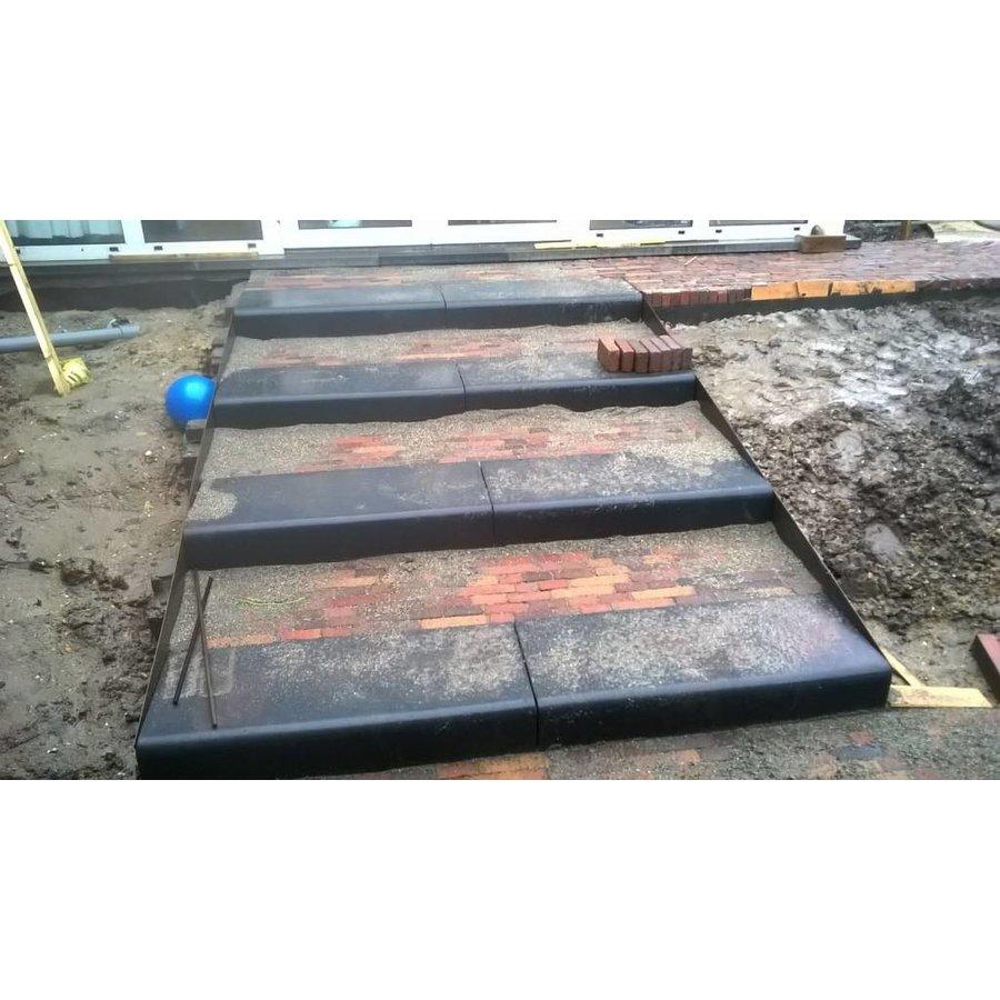 Betonnen traptreden 15x40x100 cm antraciet Oud Hollands