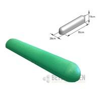 Varkensrug beton 1 kant rond groen