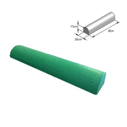 Varkensrug beton 2 kanten recht groen