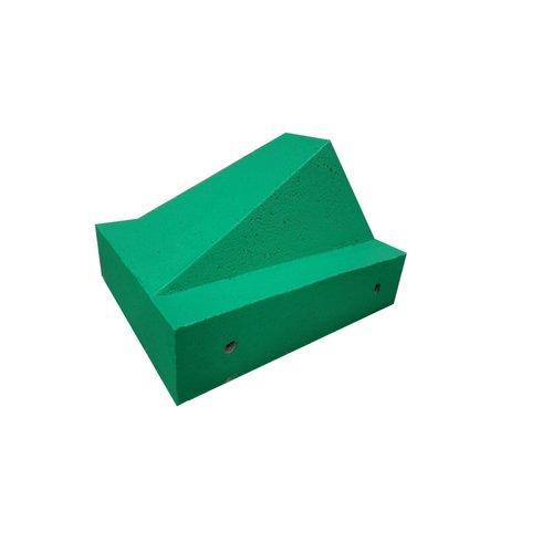 Schrikblok / schampblok 60x50x40 cm groen