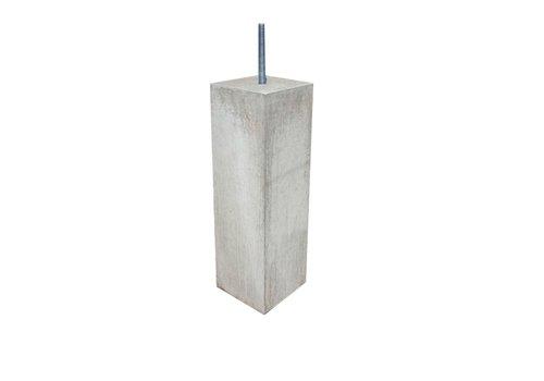 Prefab Betonpoer grijs 10x10x50 cm M16