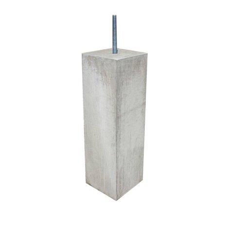 Betonpoer 10x10 en 50 cm hoog grijs M16