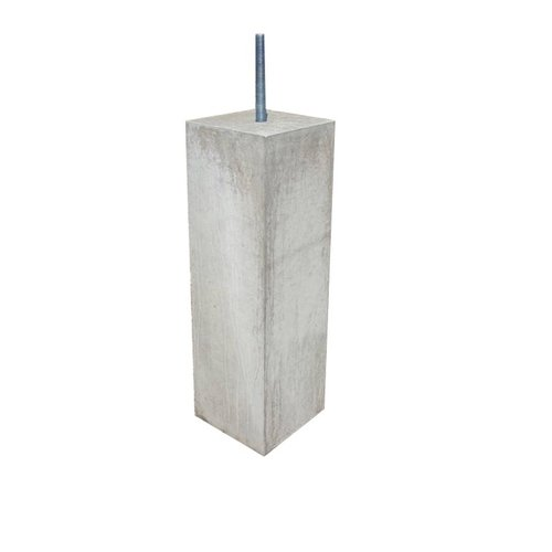 Prefab Betonpoer 10x10x50cm M16 Grijs