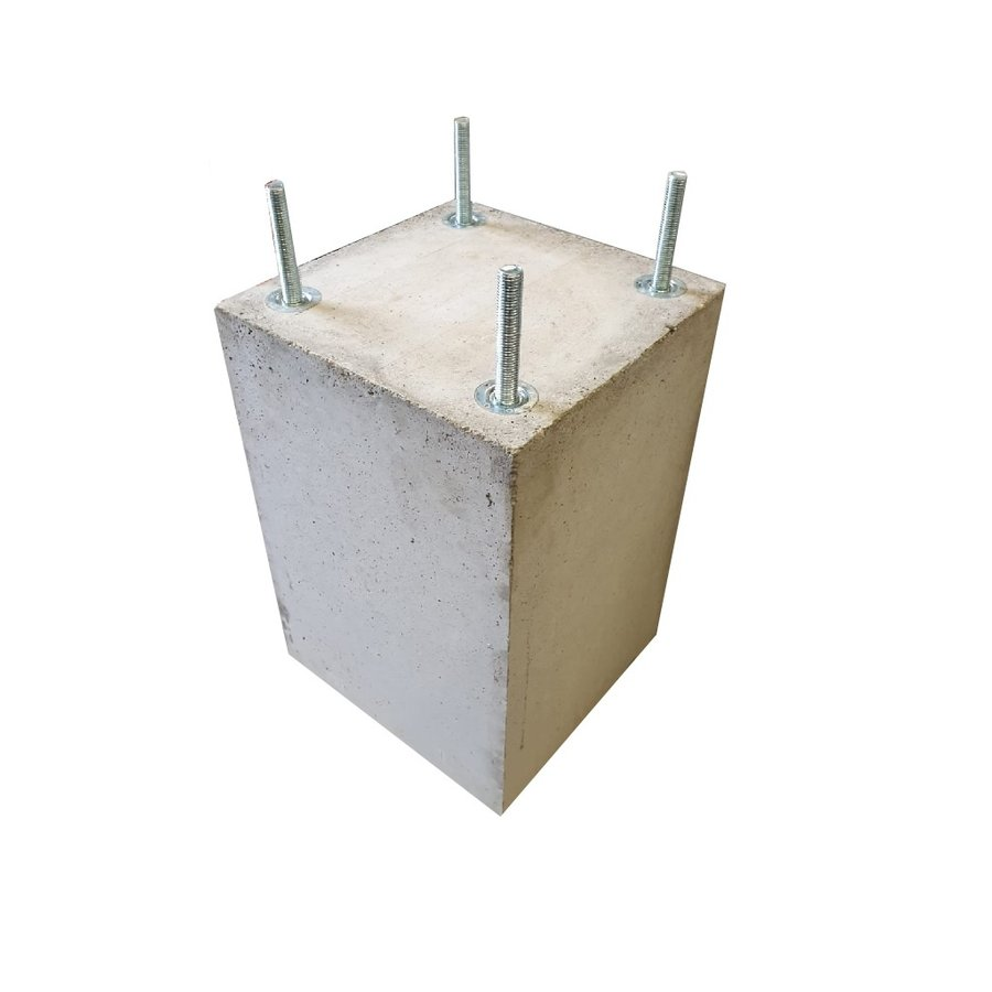 Prefab Betonpoer grijs 30x30x47 cm M16