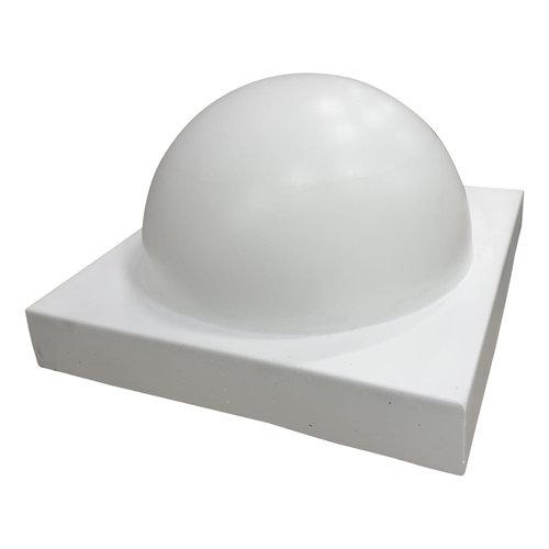 Parkeerbol groot op voet wit Ø50 cm