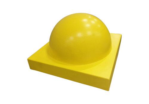 Parkeerbol groot op voet geel Ø50 cm
