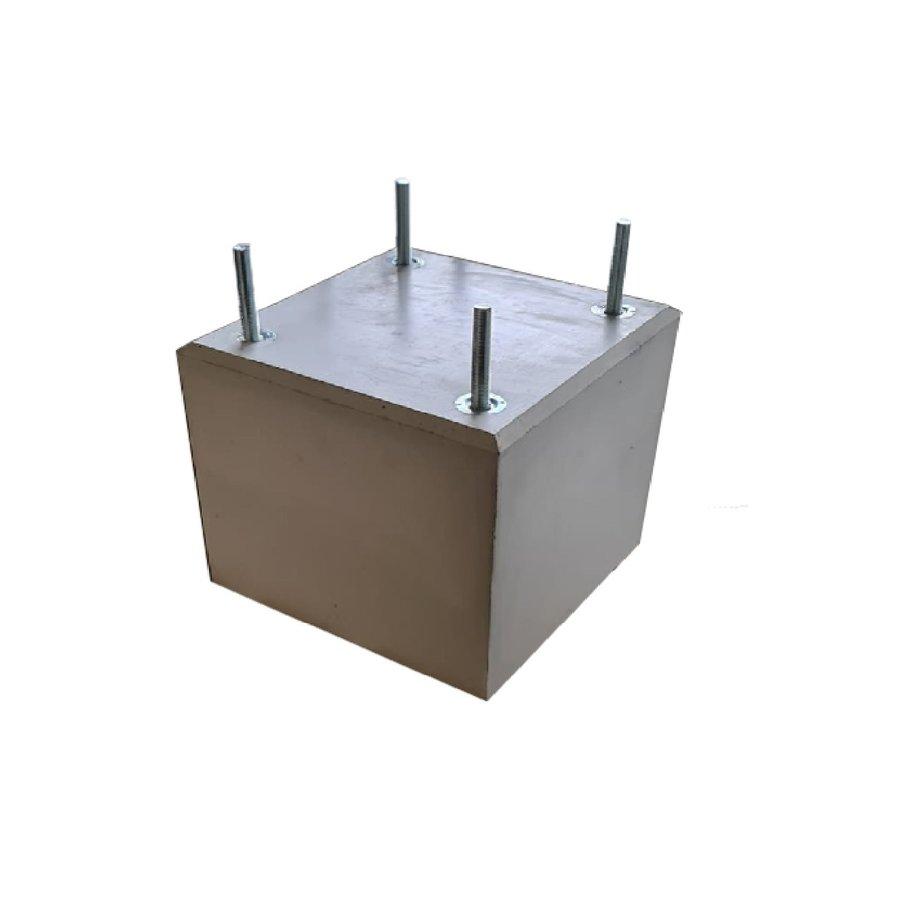 Prefab Betonpoer grijs 35x35x30 cm met  M16