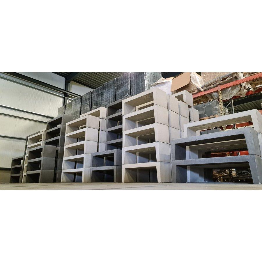 Tuinbank beton 150 cm grijs/antraciet