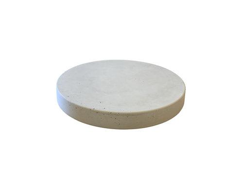 Ronde betonnen tuintegel grijs ø 55 cm