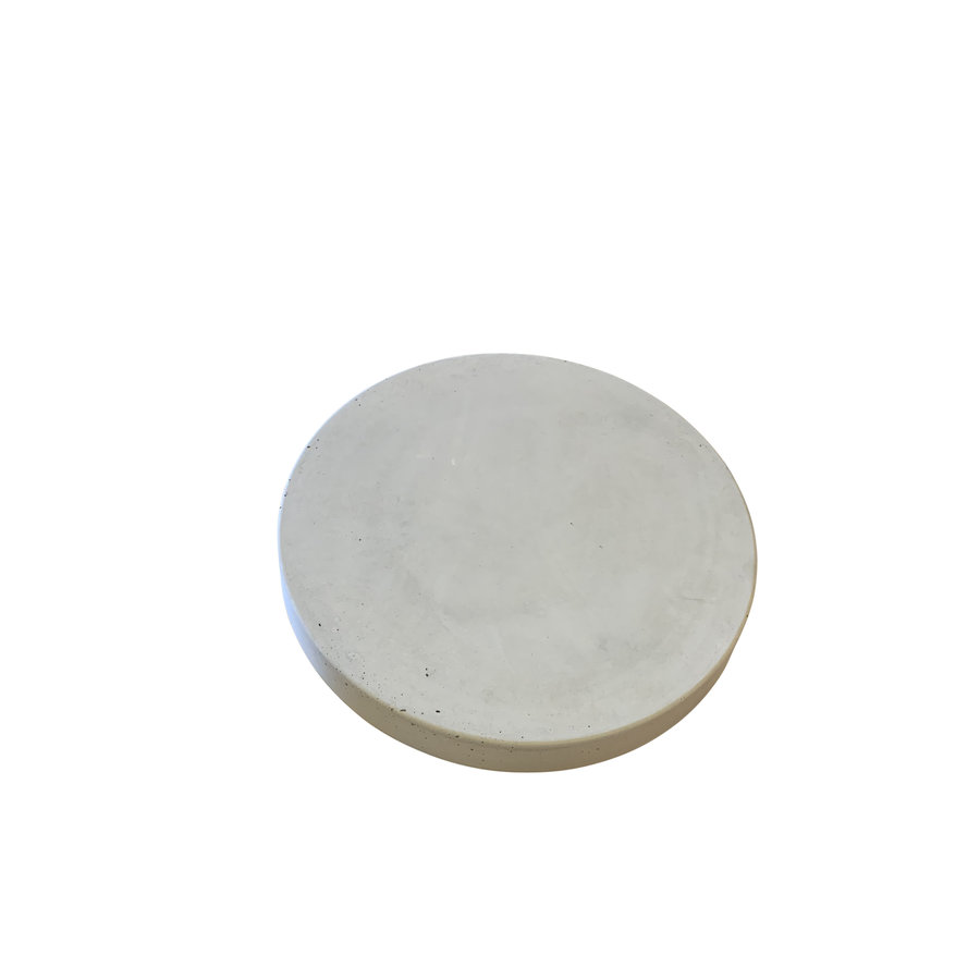Ronde betonnen tuintegel grijs ø 35 cm