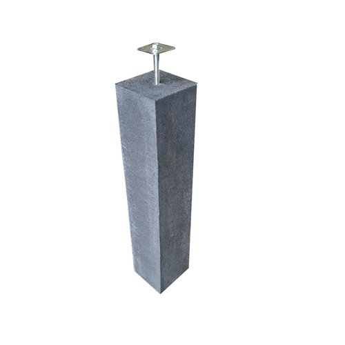 Prefab Betonpoer antraciet 20x20x100 cm incl. hoogteverstelling