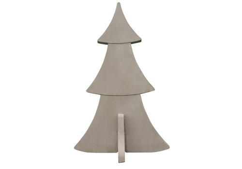 Kerstboom grijs beton 160 cm