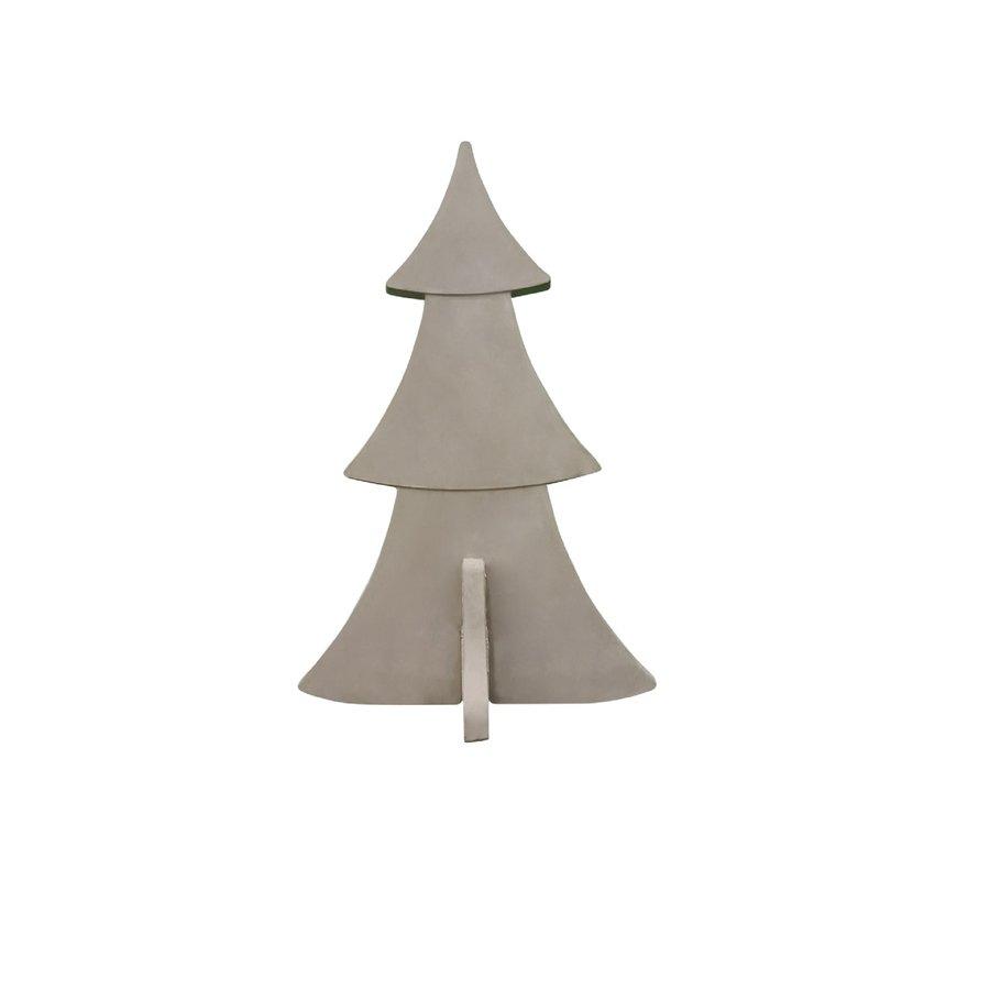Kerstboom grijs beton 48 cm