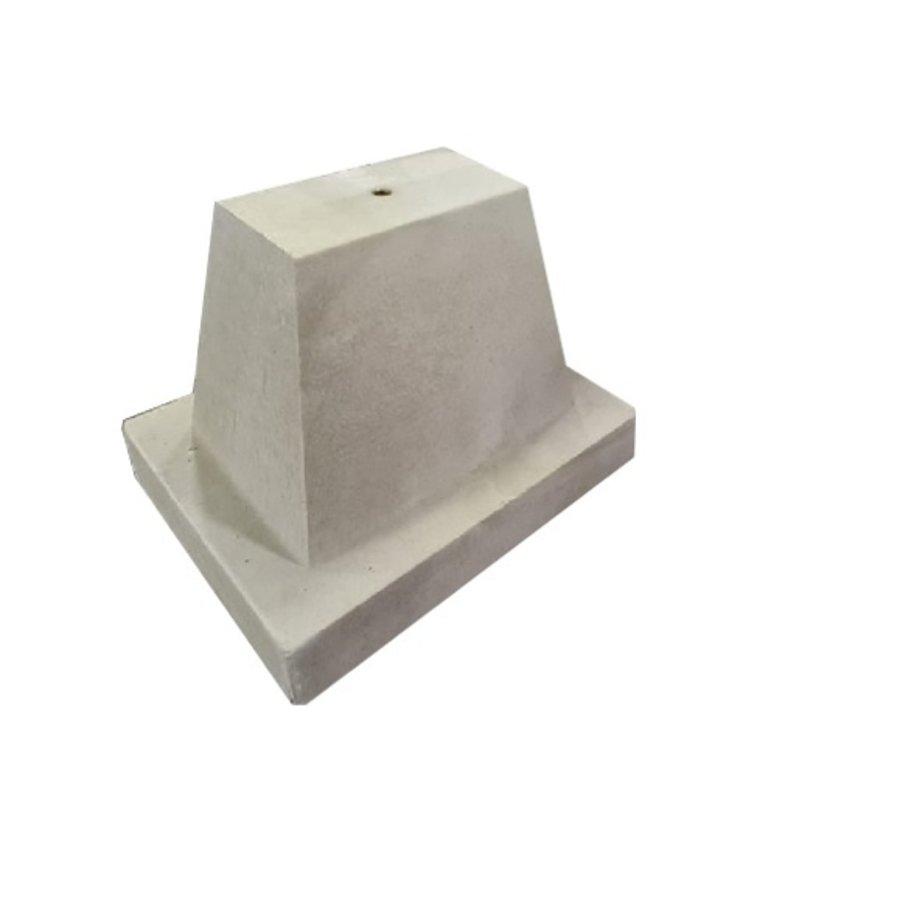 Betonpoer 32x42 en 32 cm hoog grijs M16
