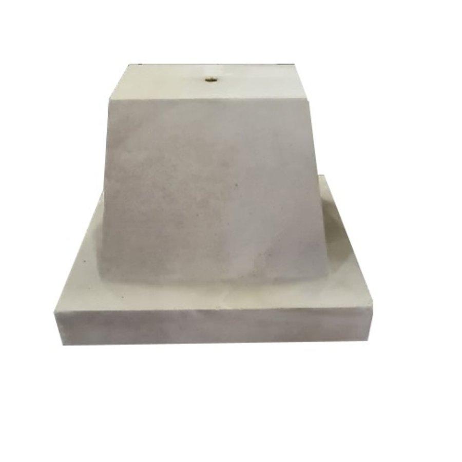 Prefab Betonpoer grijs 32x42x32 cm M16
