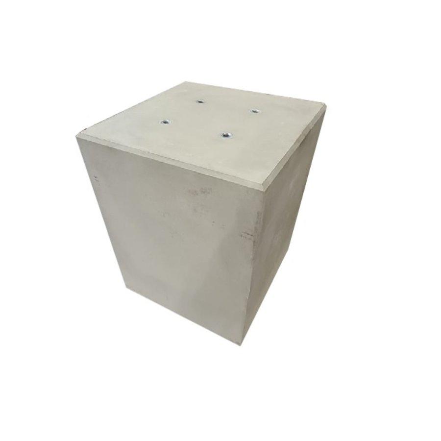 Betonpoer 60x60 en 75 cm hoog grijs M16