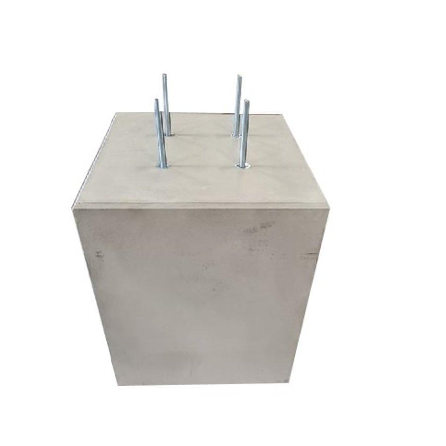 Prefab Betonpoer grijs 60x60x75 cm M16