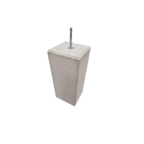 Betonpoer 25x25 en 60 cm hoog grijs M16