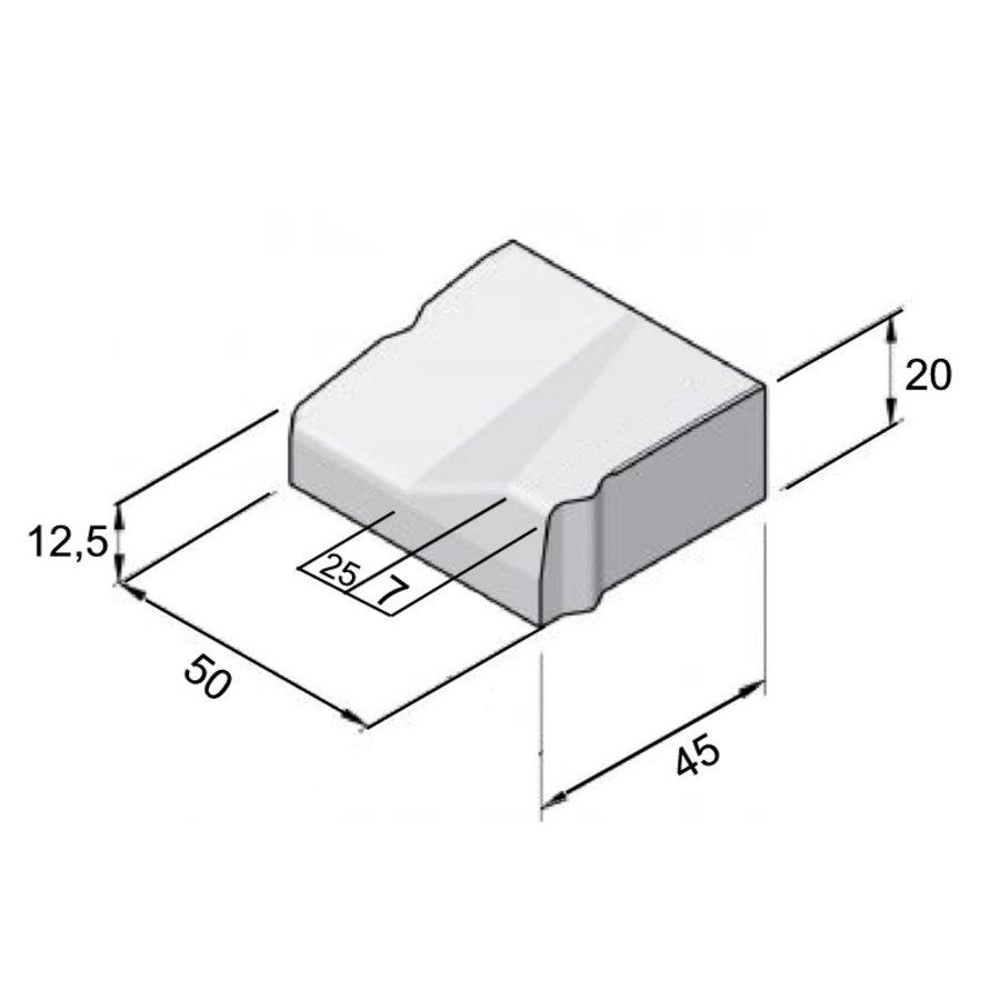 Inritblokken rechts 45x50x12,5/20