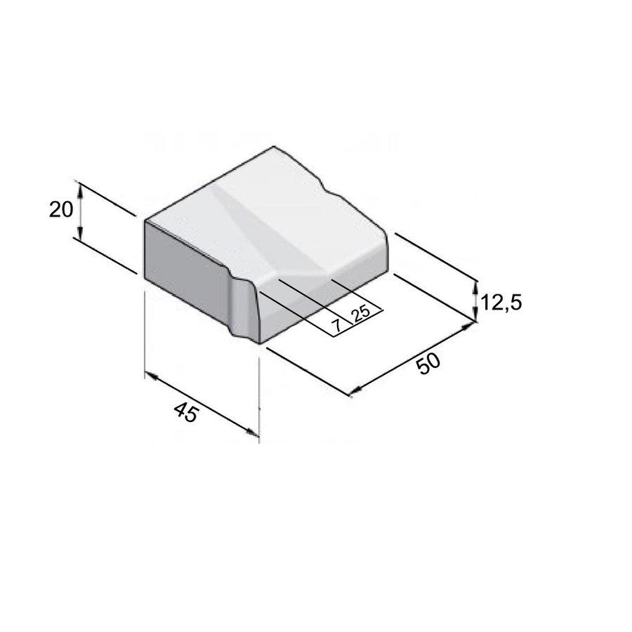 Inritblokken links 45x50x12,5/20