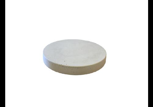 Ronde tegels grijs beton ø 19 cm