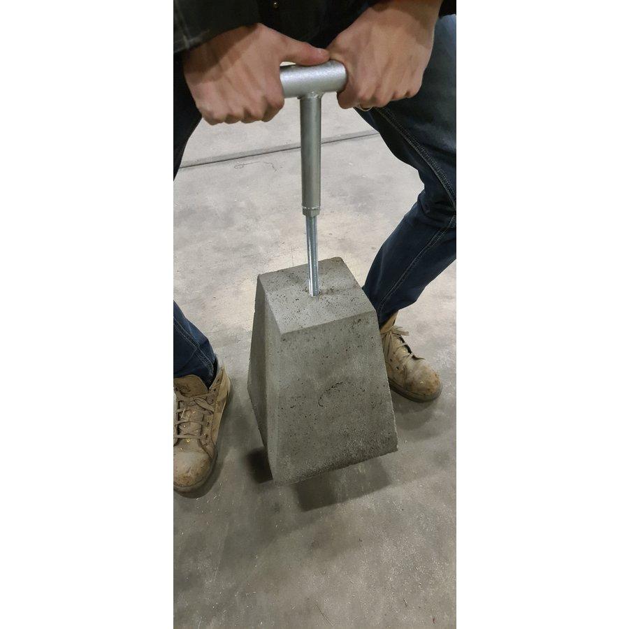 Handvat voor betonpoer