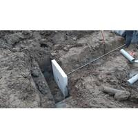 Ankerplaat beton 80x80 en 10 cm hoog