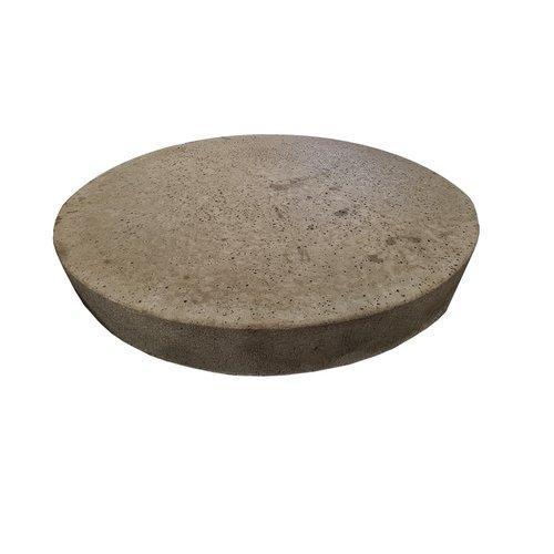 Ronde betonnen tegel grijs Oud Hollands 80 cm