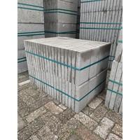 Betontegel 30x15x4,5 grijs met facet