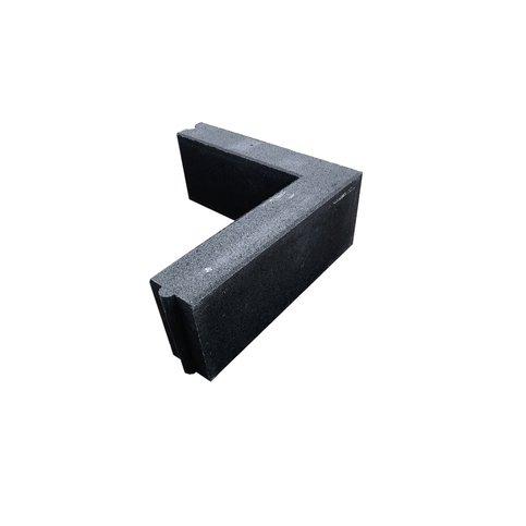 Opsluitband hoekstuk 10x20x50/50 antraciet