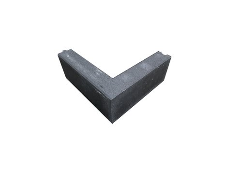 Opsluitband hoekstuk antraciet 10x20x50/50 cm