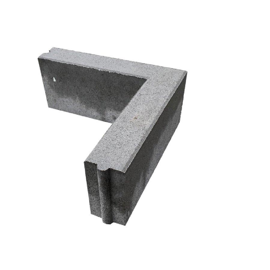 Opsluitband hoekstuk 10x20x50/50 grijs