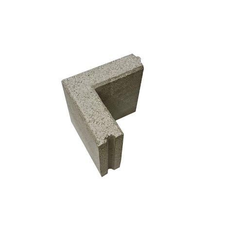 Opsluitbanden hoekstuk grijs 6x20x20/20 cm