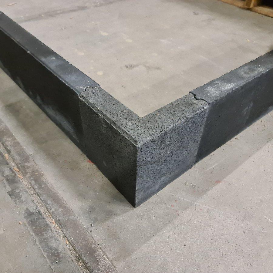 Betonband hoekstuk 6x20x20 en 20 cm hoog antraciet