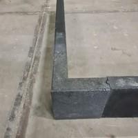 Betonbanden hoekstuk antraciet 6x20x20/20 cm