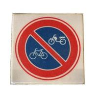 Stoeptegel verboden fietsen en bromfietsen te plaatsen