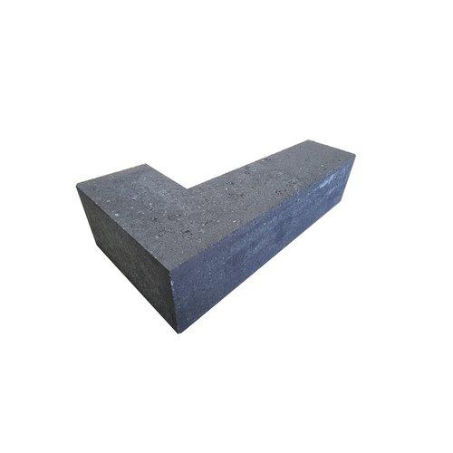Stapelblok hoekstuk 15x15x60 cm antraciet